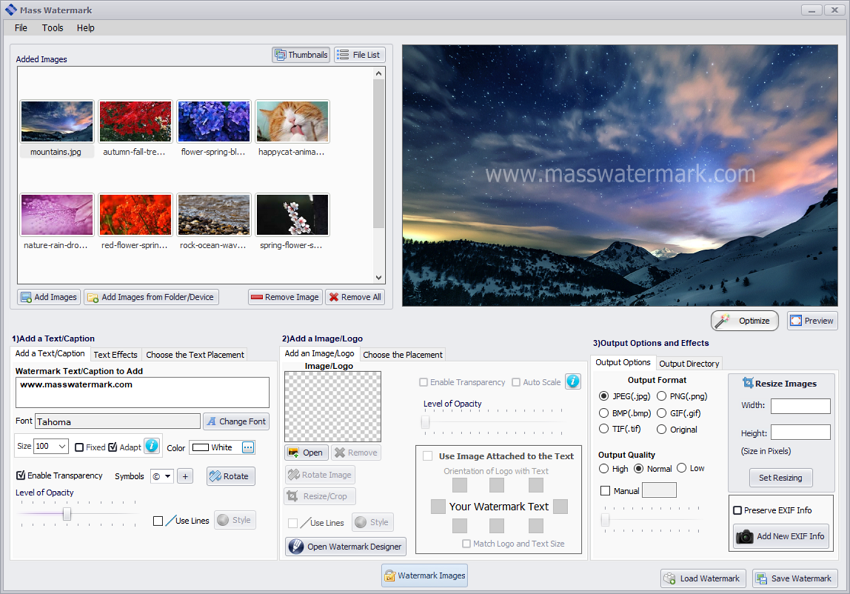 Photo Watermark Software - Watermark 100s of Photos Fast
